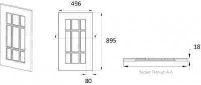 Denton Ivory Frame 895mm h x 496mm w