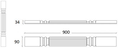 Denton Ivory Reed Pilaster
