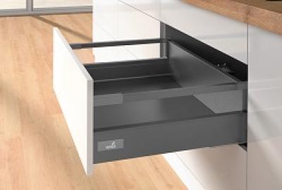 Atira Graphite Soft Close Drawerbox 144mm h x 500mm w