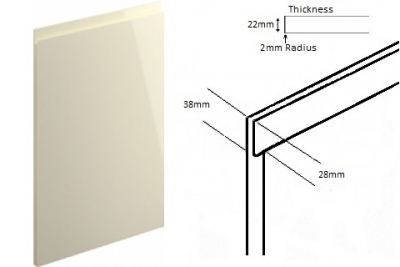 Lucente Handleless Gloss Cream (Delivered in 2-3 Working days)