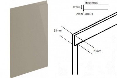 Lucente Handleless Gloss Pavillion (Delivered in 2-3 Working days)