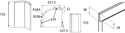 Lucente Dakar Internal Base Curved Door Set