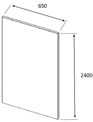 Valore Colo Bolo Tall Plain End Panel 2400mm h  X 650mm w X 18mm