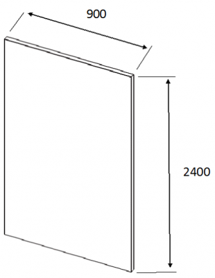 Lucente Painted Brown Grey Tall End Panel 2400h x 900w x 18mm th