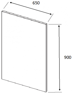 Lucente Dakar End Panel 900h x 650w x 22mm th