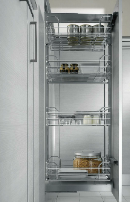 300mm Dynamic Mid Height Larder - Metallic Grey Baskets