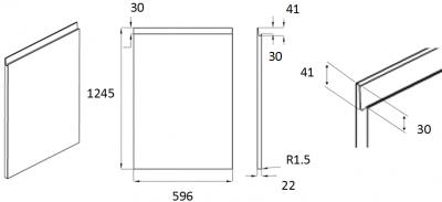 Moda White 1245mm h x 596mm w