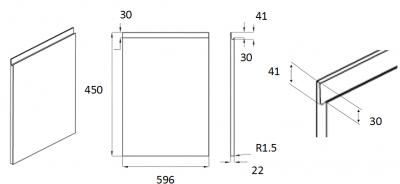 Moda White 450mm h x 596mm w
