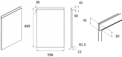 Moda White 895mm h x 596mm w