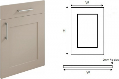 Oxford Painted Shaker Stone (Order by midnight Sunday 16th for Pre Xmas Delivery)