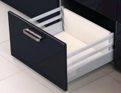 Pan Drawer Topslide Soft Close Boxed Drawer Grey 224mm x 500mm