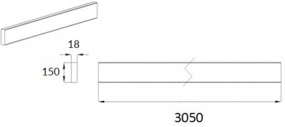 Lucente Custom Colour Plinth 150 x 3050mm 3M