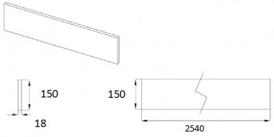Matt Dakkar Elland Plinth 2540mm W x 150mm H
