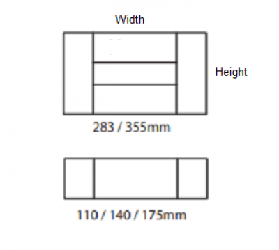 Portland Alabaster 355mm h x 496mm w