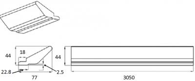 Portland Ivory Tangent Cornice 3M