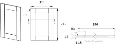 Portland Ivory Frame 715mm h x 396mm w