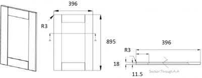 Portland Ivory Frame 895mm h x 396mm w