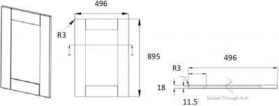 Portland Ivory Frame 895mm h x 496mm w