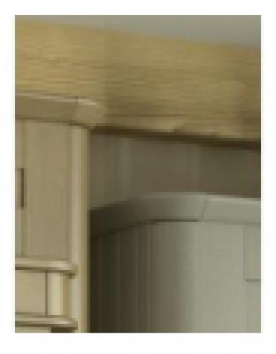 Oakgrain Graphite Radius Cornice Piece 120mm x 120mm