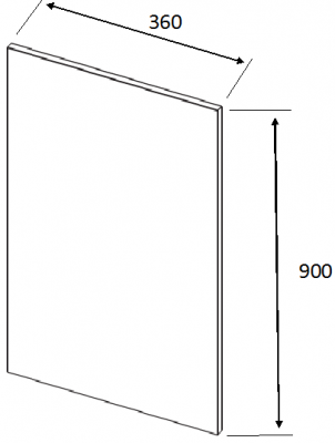 Valore Colo Bolo Wall Plain End Panel 900mm  h X 360mm w X 18mm
