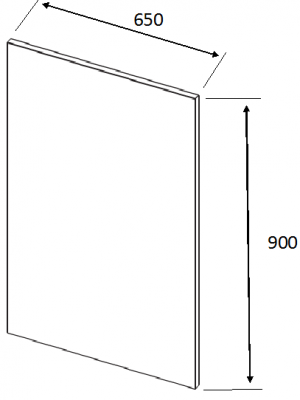 Val Anthracite Metal Base Plain End Panel 900mm h X 650mm w X 18mm