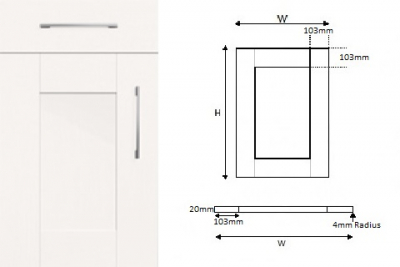 5-Piece Handpainted Real Wood Shaker White