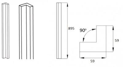 Rothwell Supermatt Light Grey Internal Corner Post (895h)