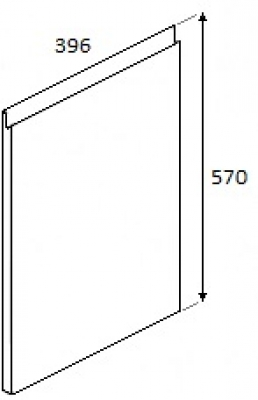 Rothwell Supermatt Light Grey Sample 570mm x 396mm (free shipping)