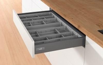 Atira Graphite Soft Close Drawerbox 70mm h x 300mm w