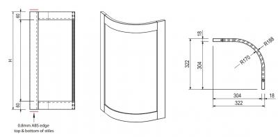 Newmarket Ivory Curved Door