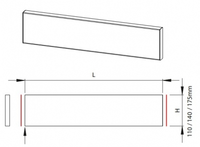 Newmarket Ivory 110mm h x 596mm w