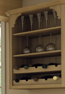 Wilton Oakgrain Cream Wine Rack Rail