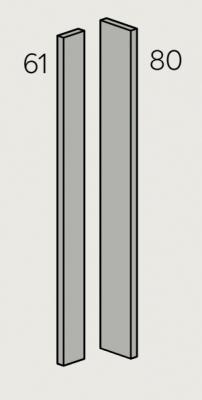 Zur Supermatt Graphite 720mm h Adaptable Corner Post (Cut to suit)