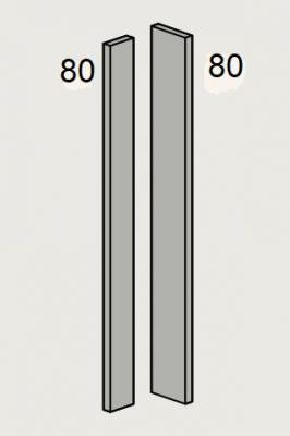 Westbury Matt Mussel 715mm h Adaptable Corner Post (Cut to suit)