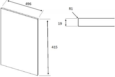 Zur Supermatt Cashmere 175mm h x 996mm
