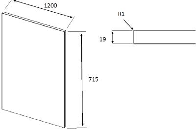 Zur Supermatt Cashmere 283mm h x 496mm
