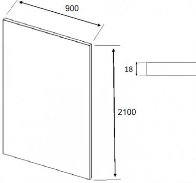 Fir Matt Light Grey Breakfast Bar Panel 2100mm h x 900mm w