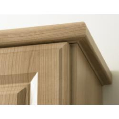 High Gloss Snow Larch Lincoln Bullnose Cornice