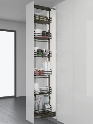 Gun Metal 300mm Pull Out Larder Unit