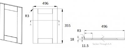 Portland Ivory 355mm h x 496mm w