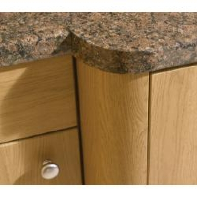 Halifax Natural Oak Knebworth Radius Rail 3M H x 80mm W