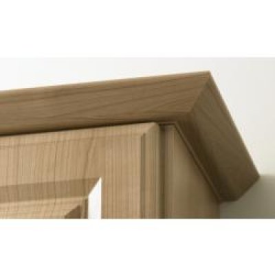 High Gloss Snow Larch Lincoln Tangent Cornice